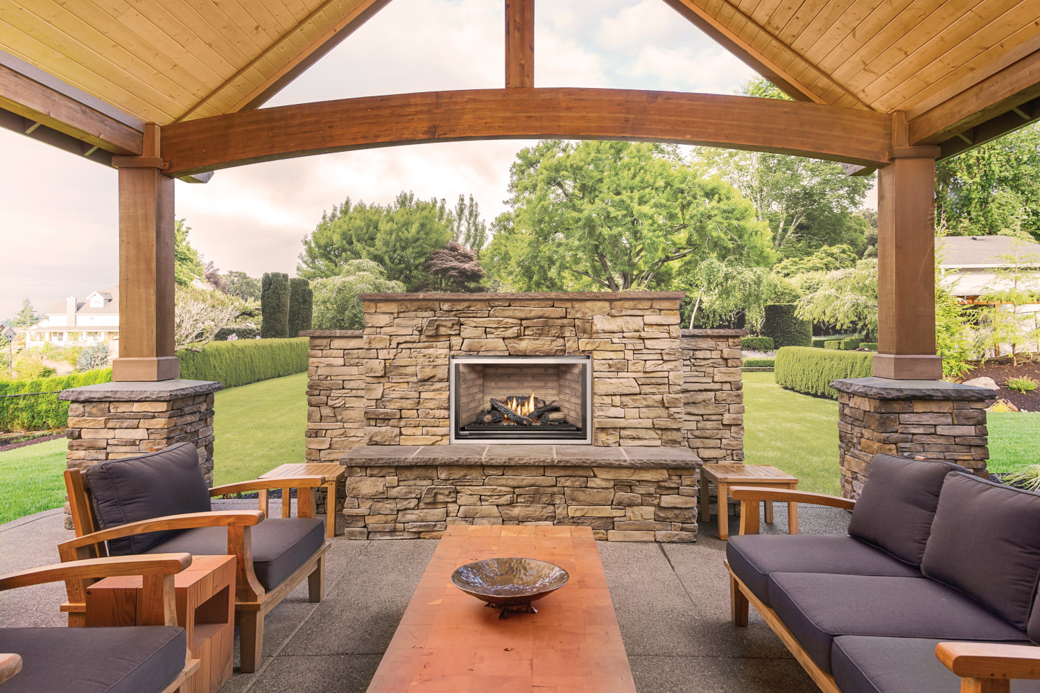 Outdoor Wood Burning Fireplace | Embers Outdoor Kitchen ... on Embers Fireplaces & Outdoor Living id=78404